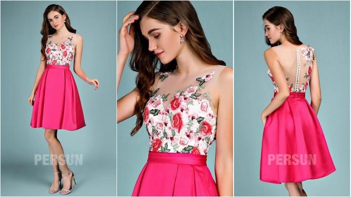 robe couleur rose fuchsia